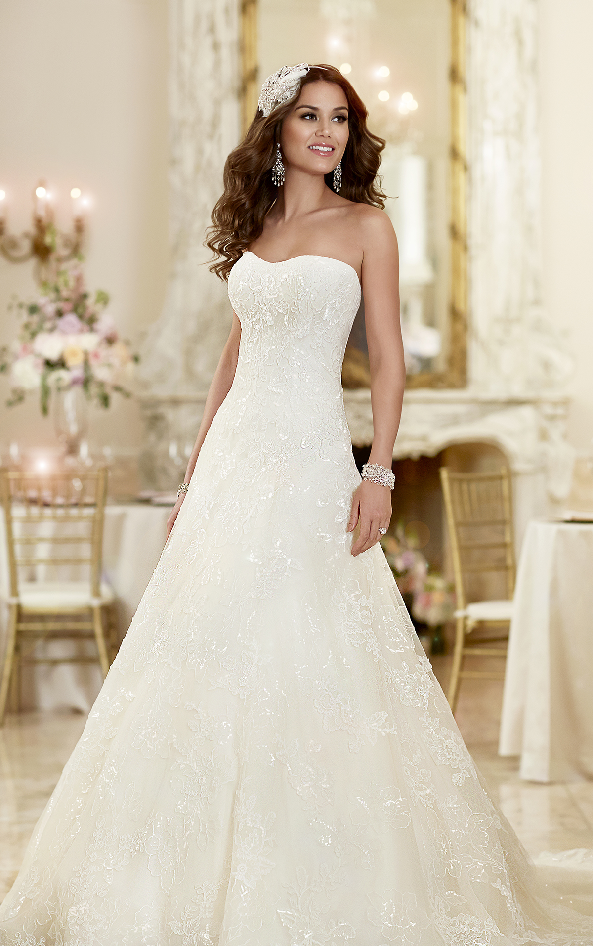 69b0e5191b3ecc 6024. This Lace over Dolce Satin lace wedding dress from the Stella York ...