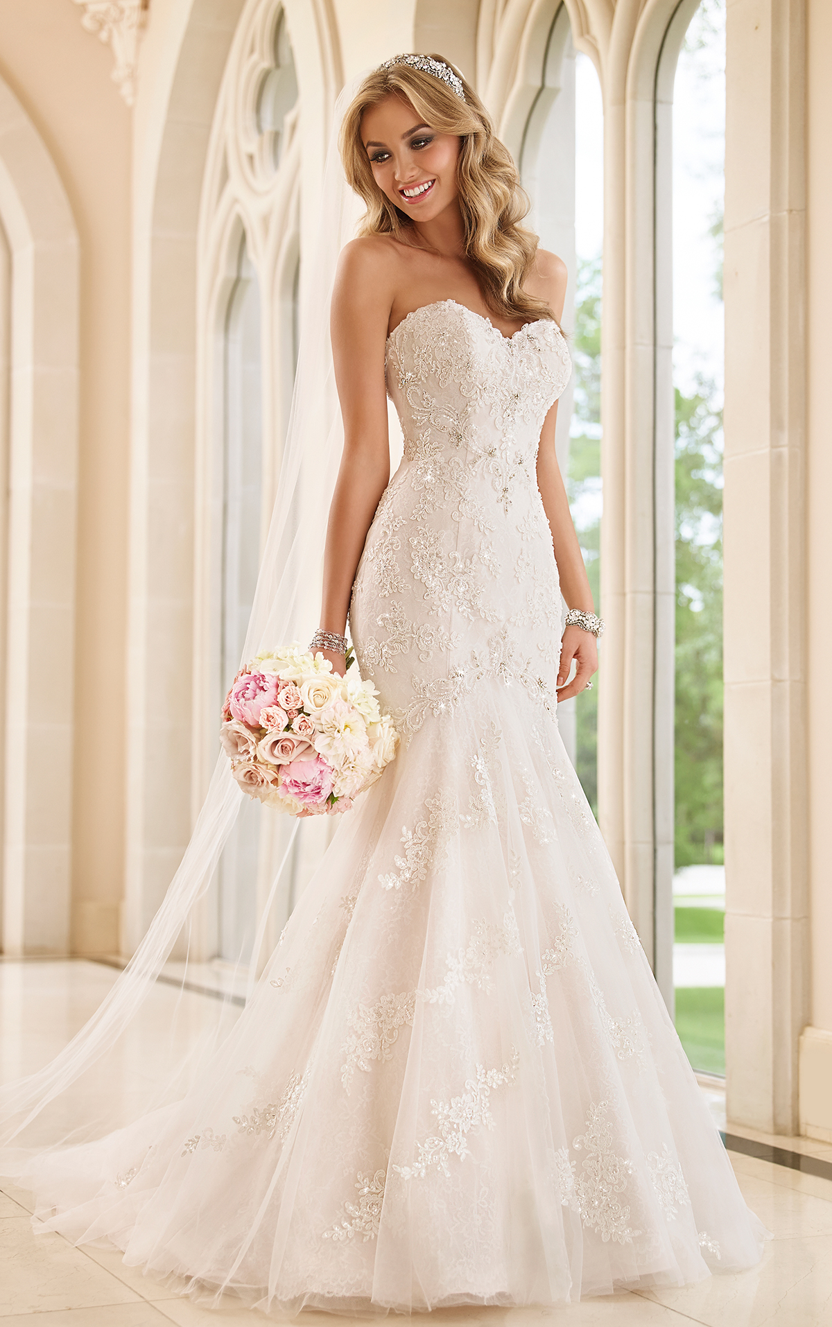 8a48f7adfb Dressed in spectacular beaded hand-placed Lace and enchanting Tulle, this Stella  York sexy fit-and-flare wedding dress features beautiful Diamante crystals  ...